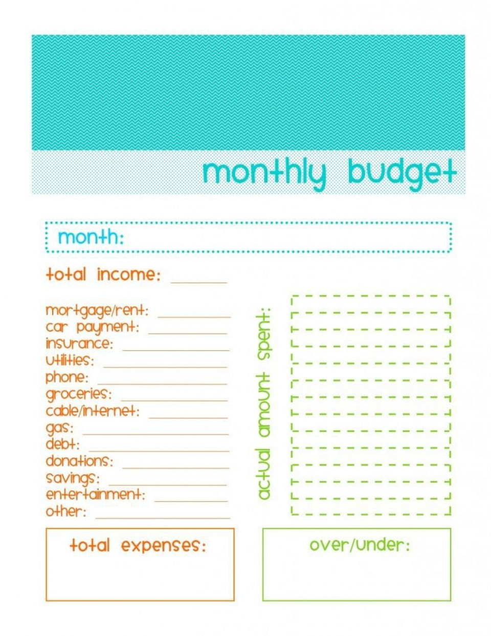001 Archaicawful Free Simple Monthly Household Budget Template Photo 960