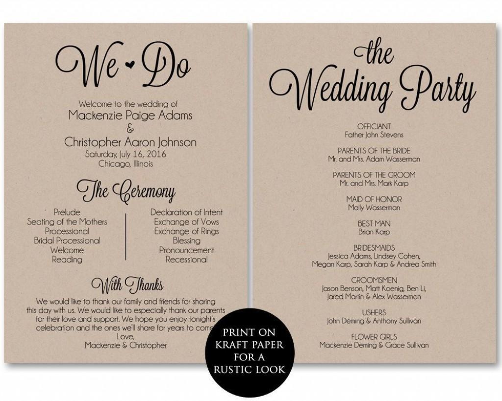 001 Archaicawful Free Wedding Ceremony Program Template Inspiration  Catholic DownloadLarge