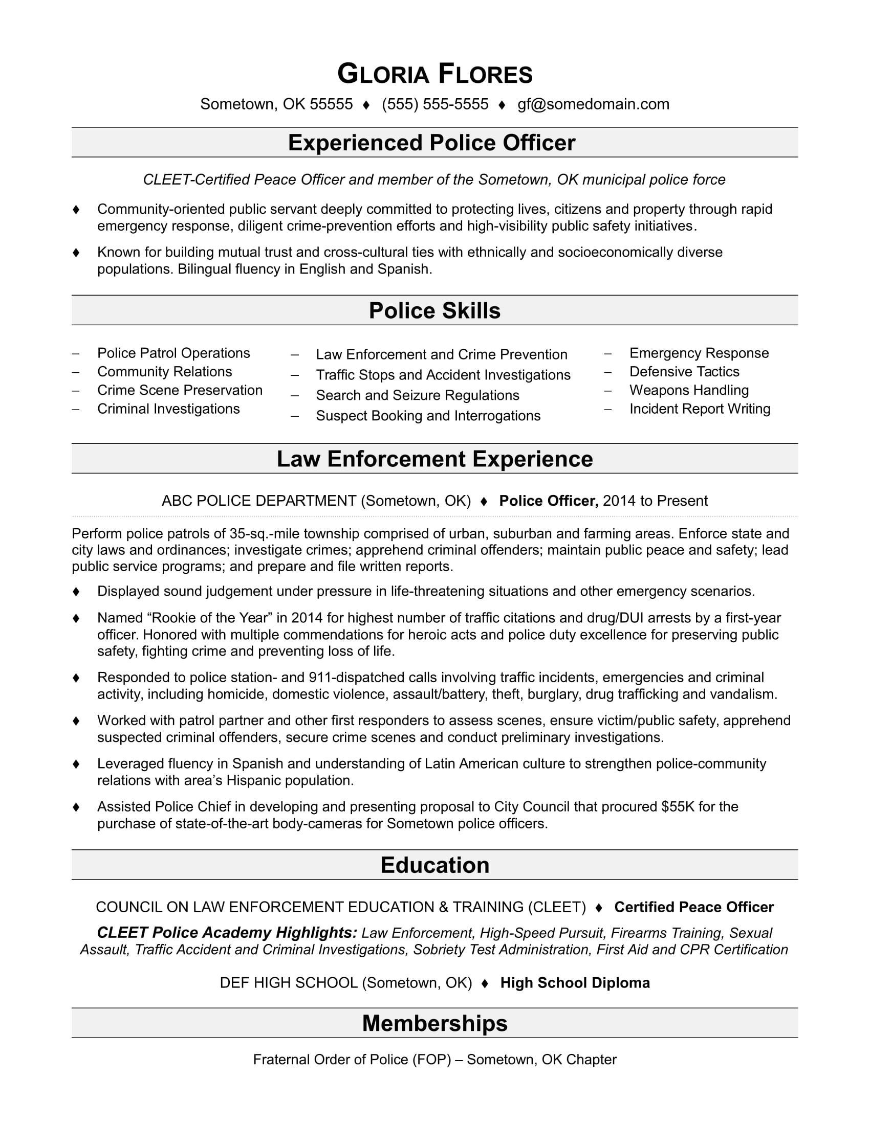 001 Archaicawful Law Enforcement Resume Template Sample  Federal PromotionFull