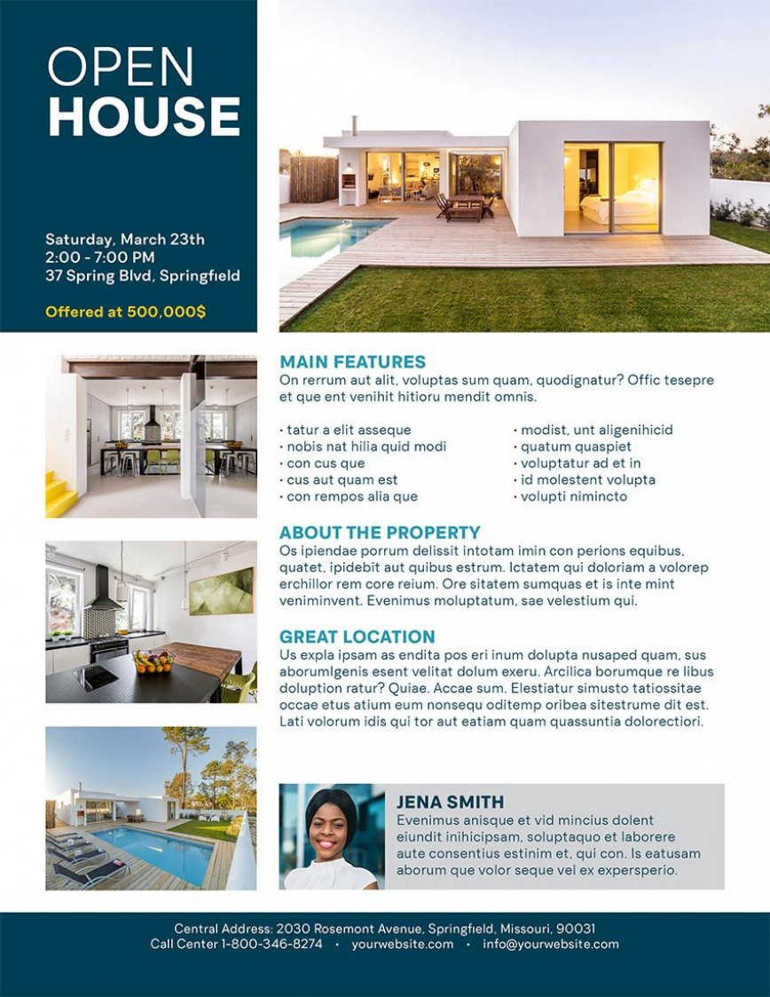 001 Archaicawful Open House Flyer Template Example  Word Free School Microsoft868