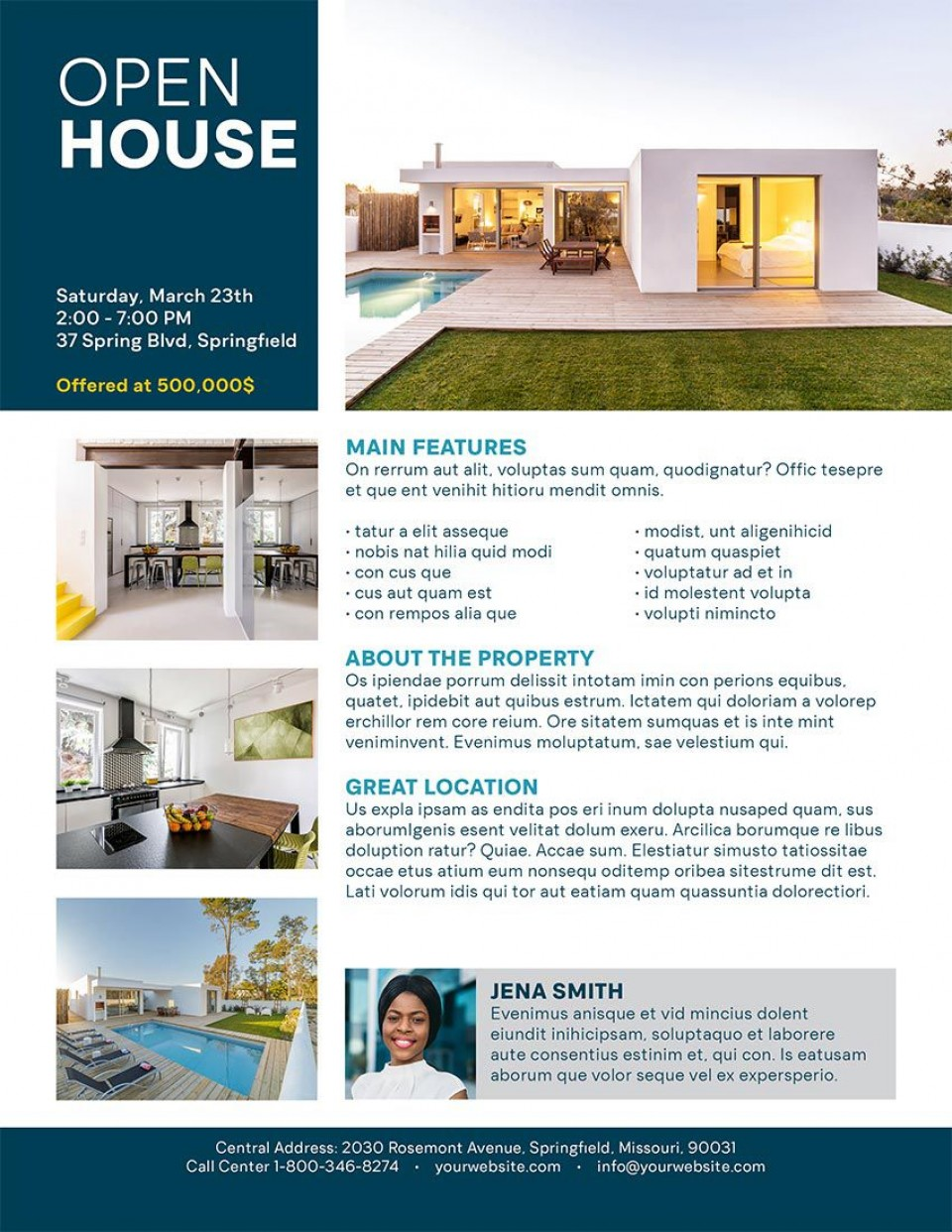 001 Archaicawful Open House Flyer Template Example  Word Free School Microsoft960