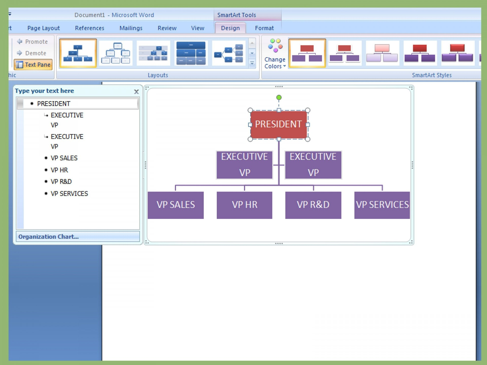 001 Archaicawful Organizational Chart In Microsoft Powerpoint 2010 Image 1920