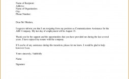 001 Archaicawful Professional Resignation Letter Template Picture  Best Format Pdf How To Write A
