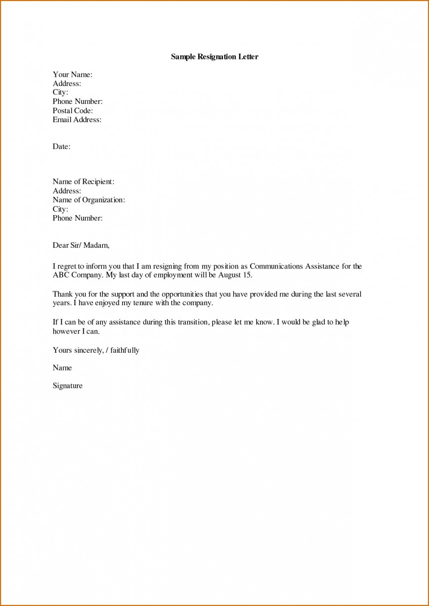 001 Archaicawful Professional Resignation Letter Template Picture  Uk 1 Month Notice How To Write A