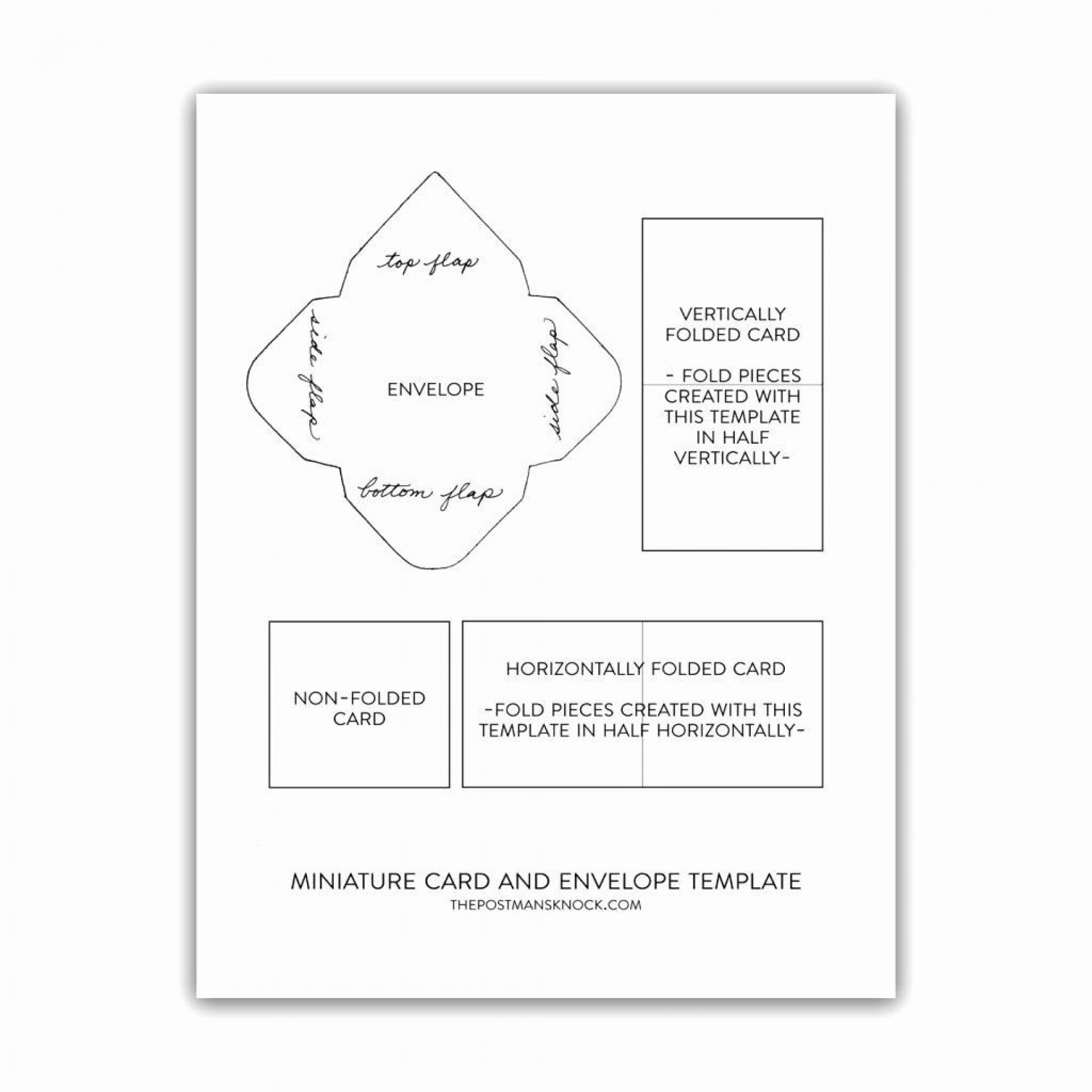 001 Archaicawful Quarter Fold Greeting Card Template Free Example 1920
