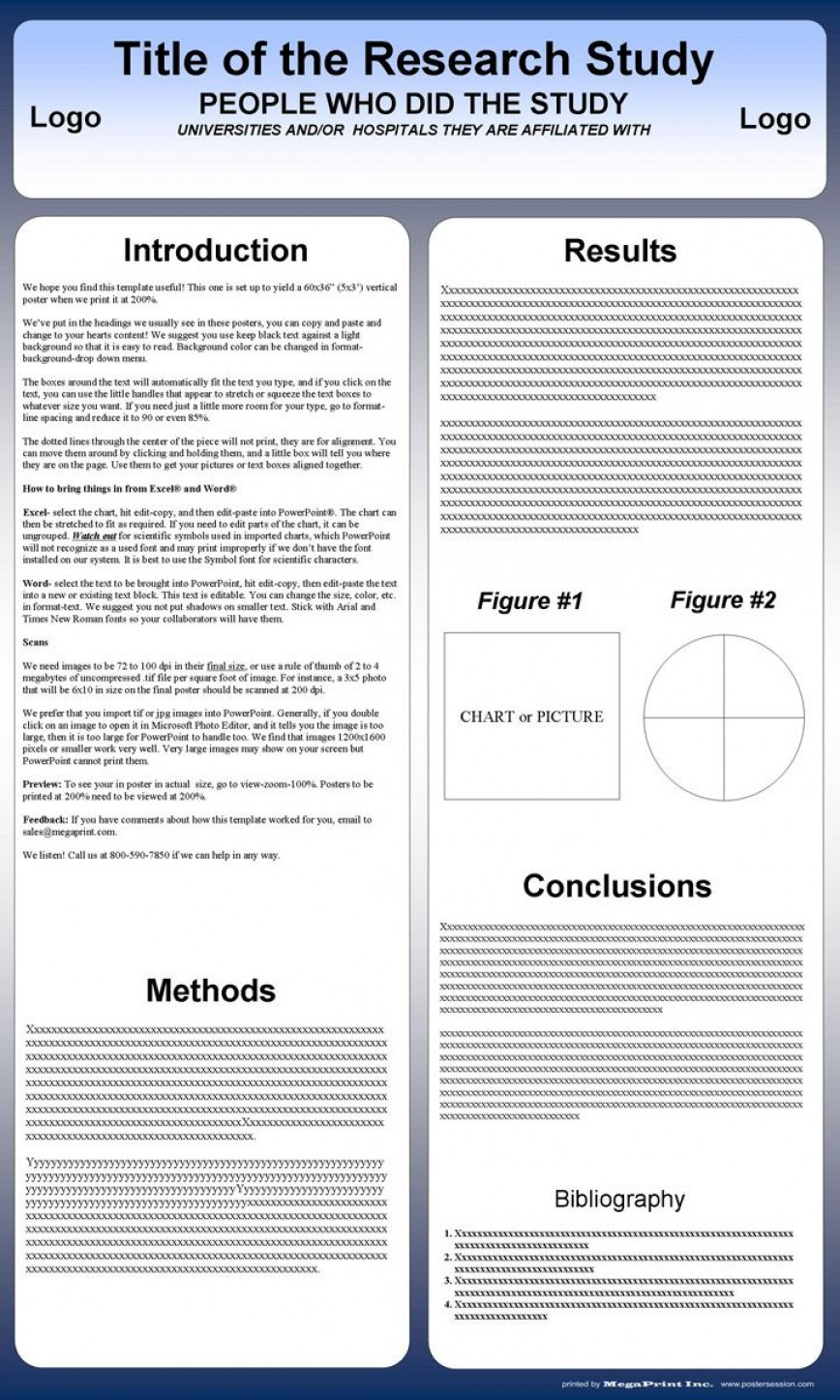 001 Archaicawful Scientific Poster Template Free Powerpoint Idea  Research Presentation