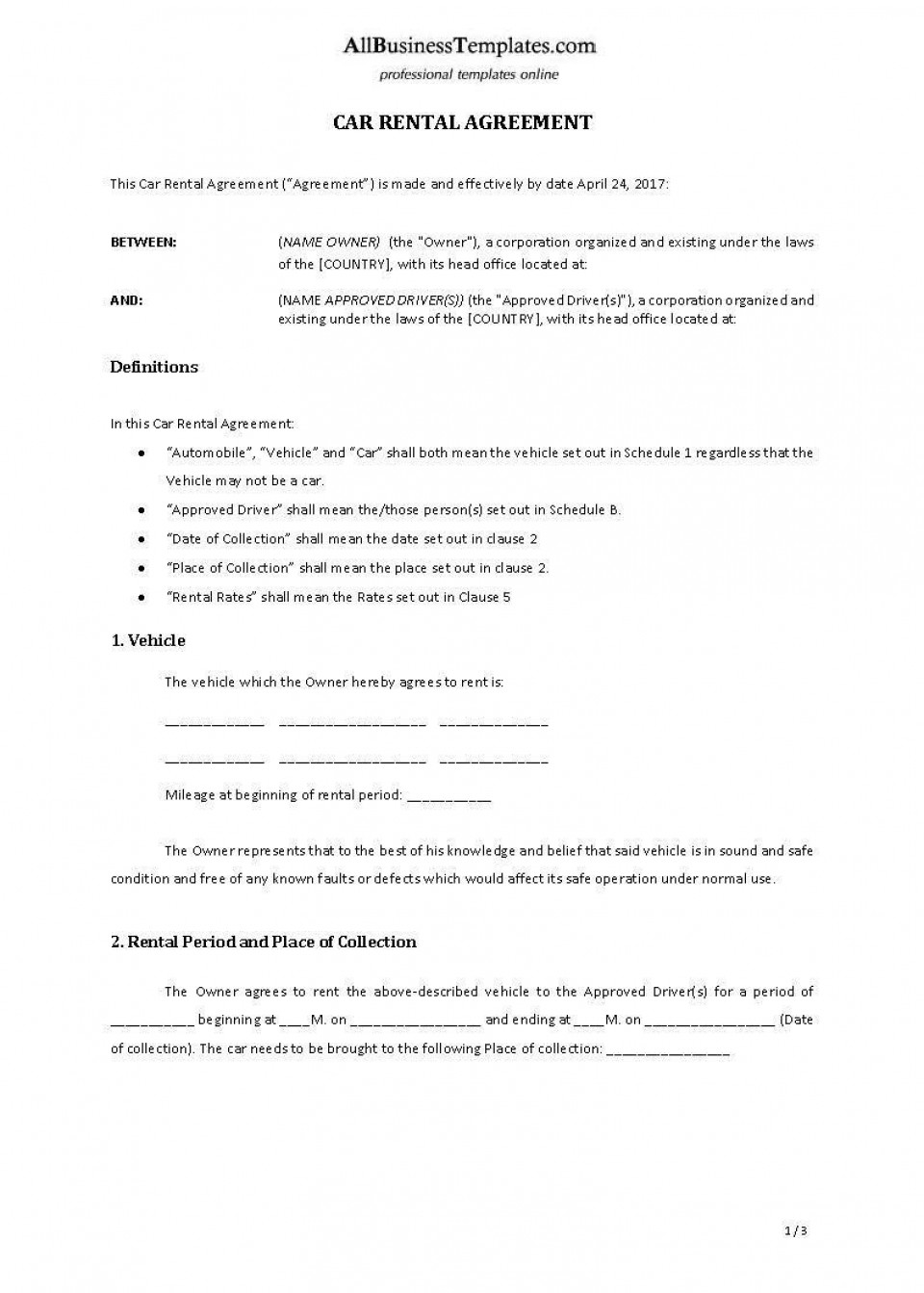 001 Archaicawful Template Vehicle Rental Agreement Highest Clarity  Motor Word960