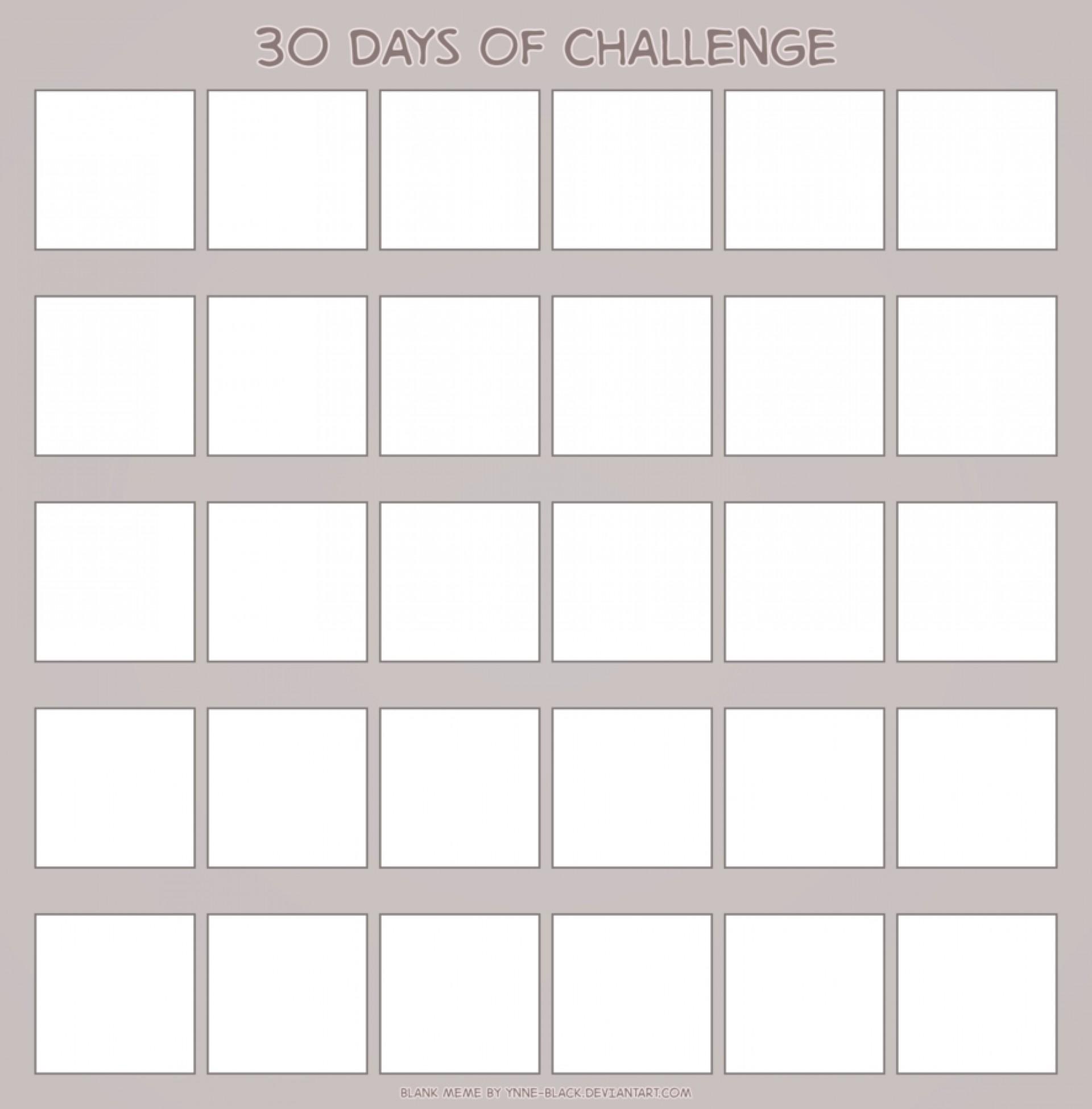 001 Astounding 30 Day Calendar Template Idea  Pdf Free Blank1920