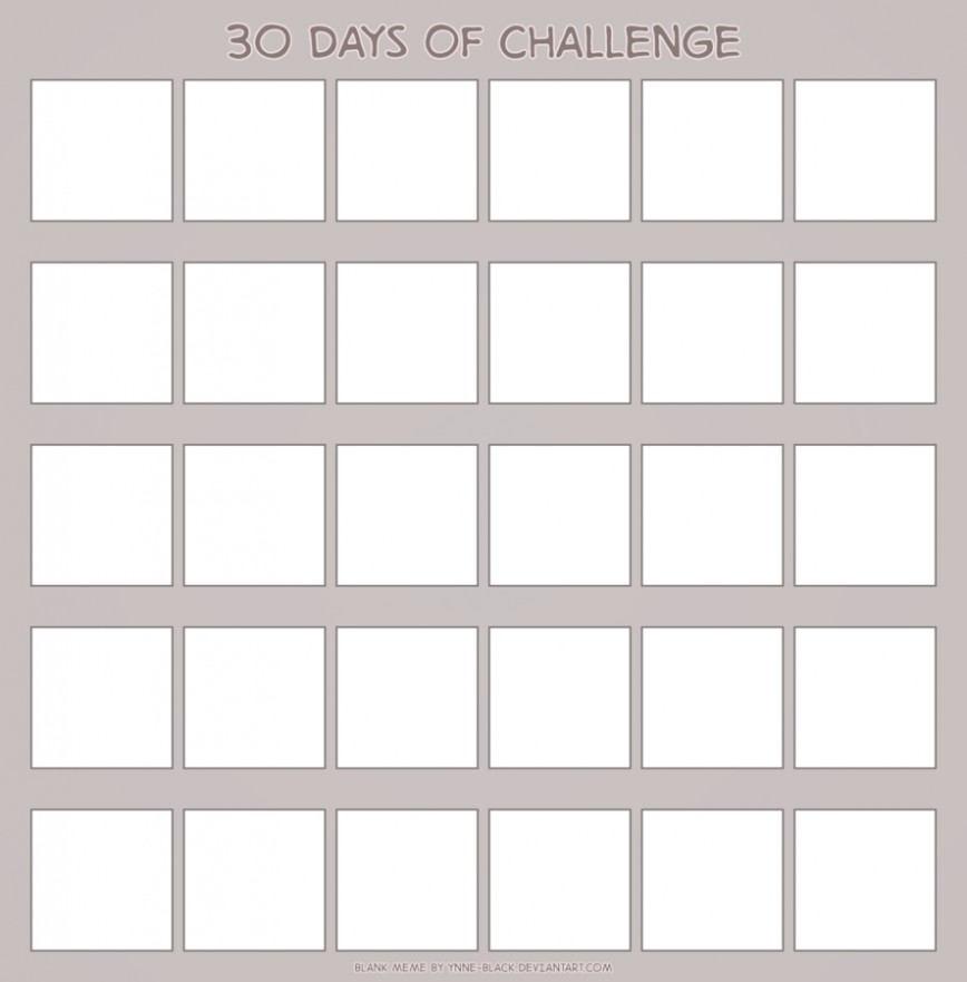 30 Day Template from www.addictionary.org