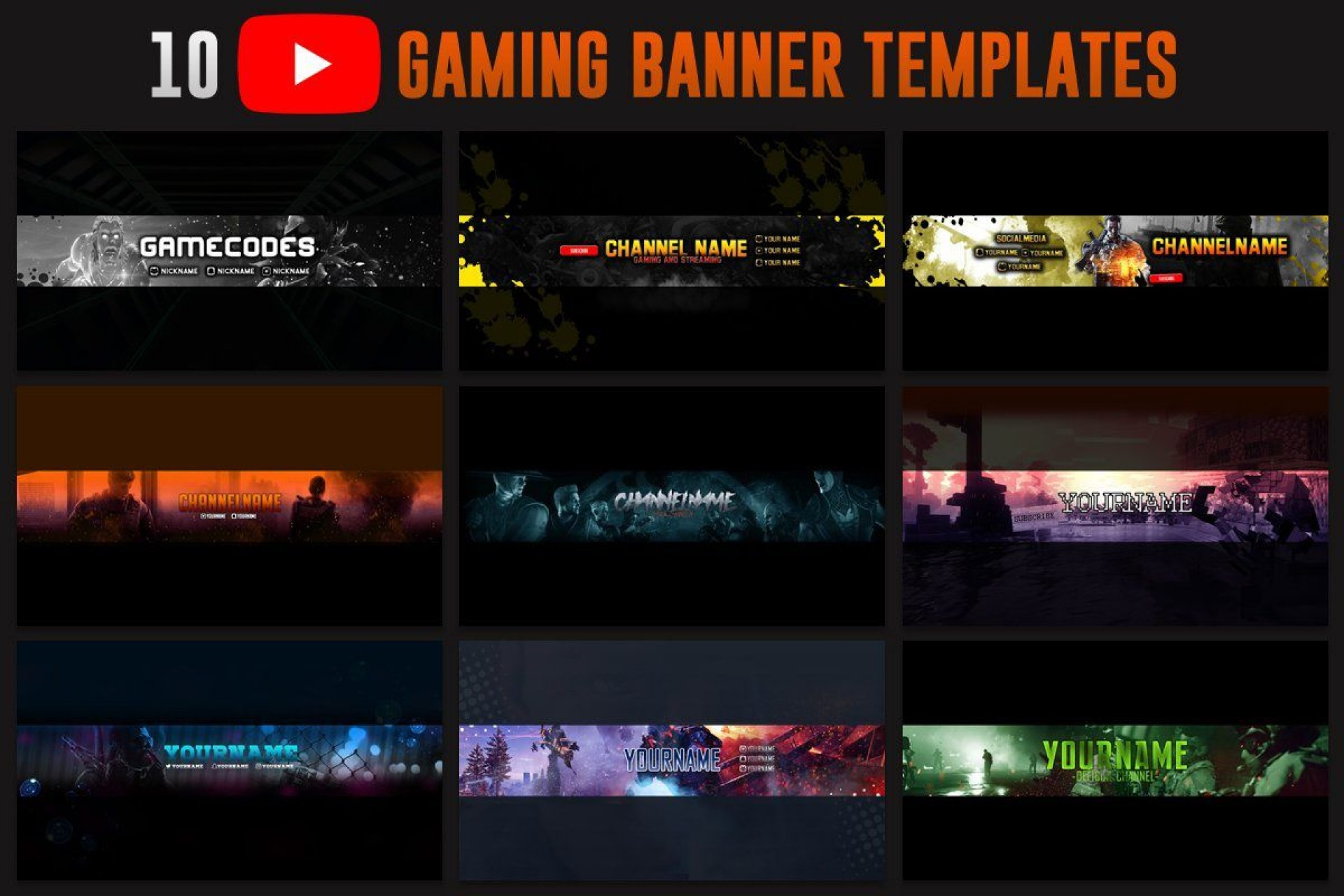 001 Astounding Channel Art Template Photoshop Sample  Roblox Youtube Cc1920
