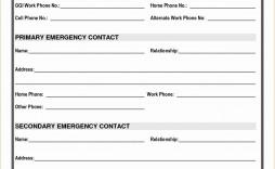 001 Astounding Employee Emergency Contact Form Template High Def  Uk Free