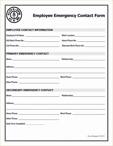 001 Astounding Employee Emergency Contact Form Template High Def  Uk360