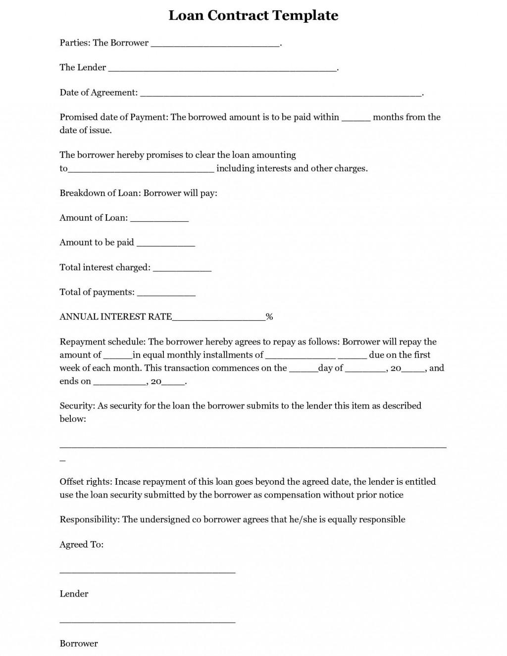 001 Astounding Equipment Loan Agreement Template Highest Quality  Simple Uk Borrowing FreeLarge
