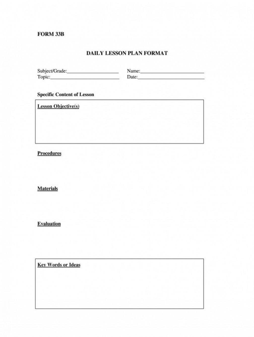 001 Astounding Free Printable Lesson Plan Template Blank Photo  FormatLarge