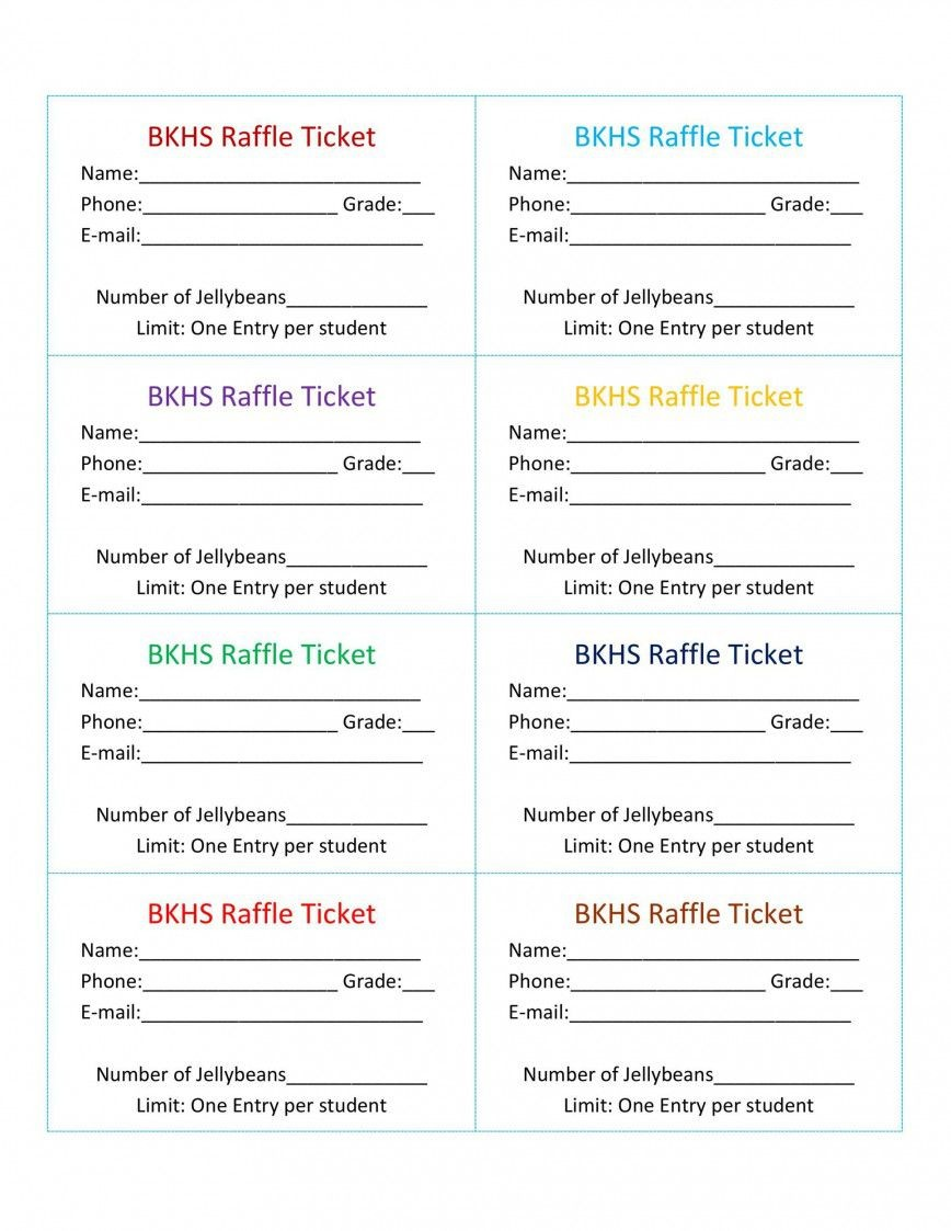 001 Astounding Free Raffle Ticket Template Inspiration  Pdf For Mac Excel