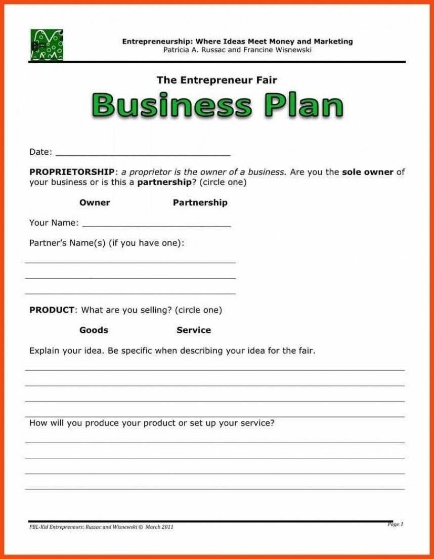 001 Astounding Free Simple Busines Plan Template High Resolution  Example PdfFull