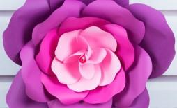 001 Astounding Large Rose Paper Flower Template Free Idea
