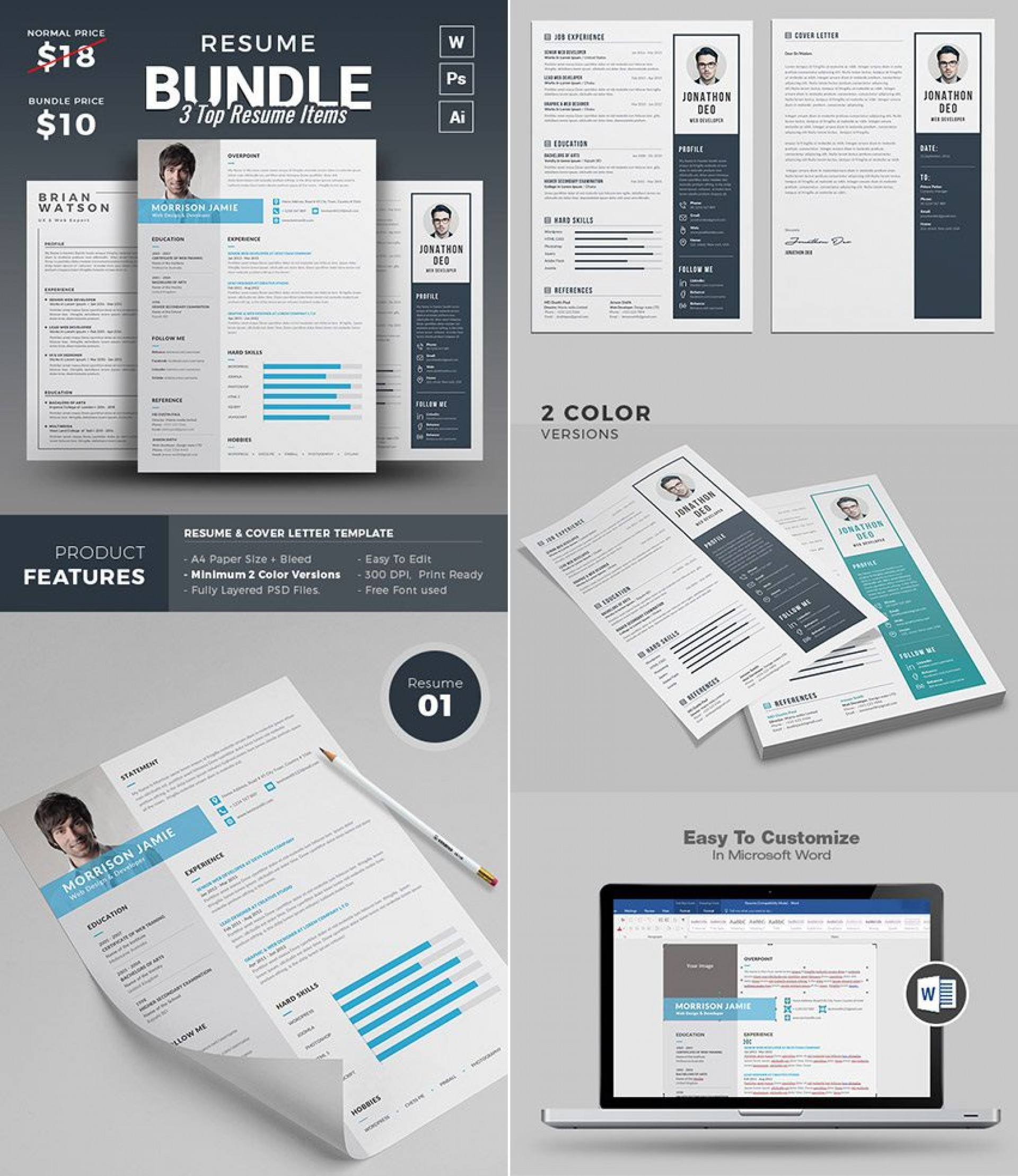 001 Astounding Microsoft Word Portfolio Template High Def  Career Professional Free Download1920