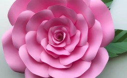 001 Astounding Paper Rose Template Pdf High Def  Flower Giant Free Crepe