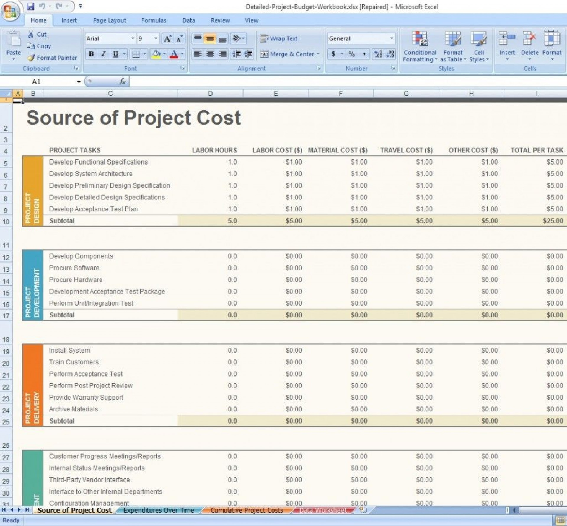 001 Astounding Project Management Template Free Download Example  Excel Website1920