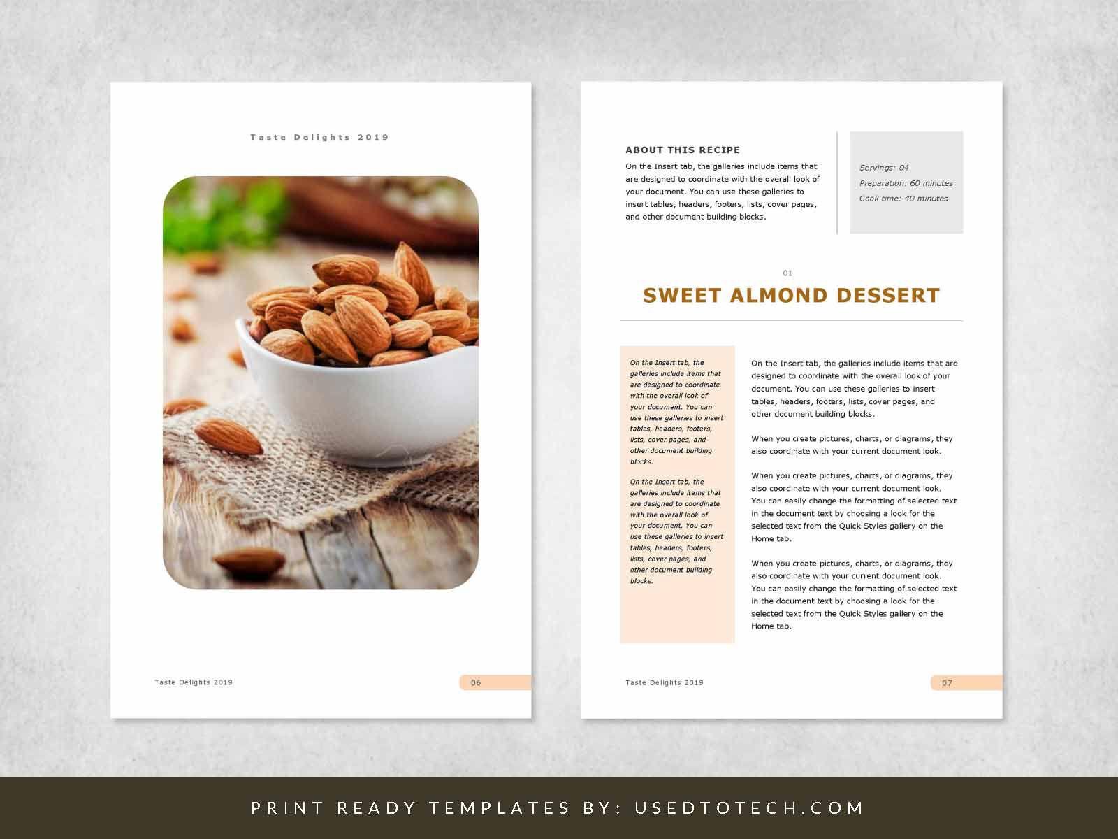 001 Astounding Recipe Book Template Word Photo  Mac Free MicrosoftFull