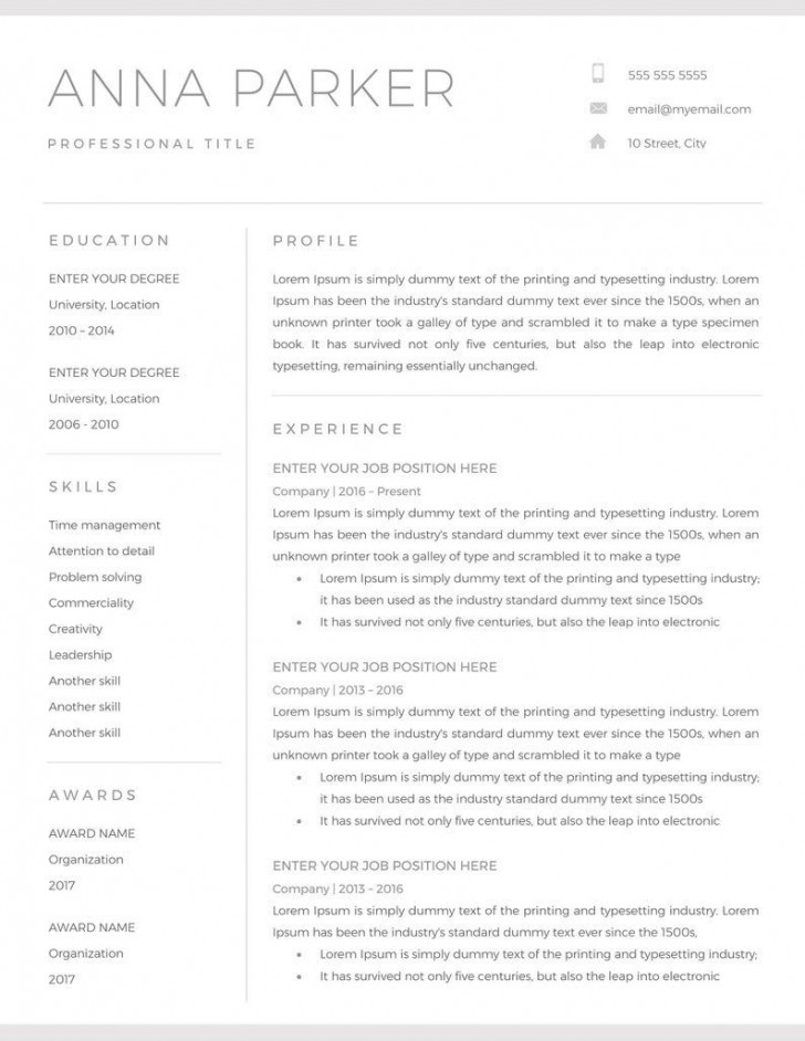 001 Astounding Resume Microsoft Word Template High Resolution  Cv/resume Design Tutorial With Federal Download728