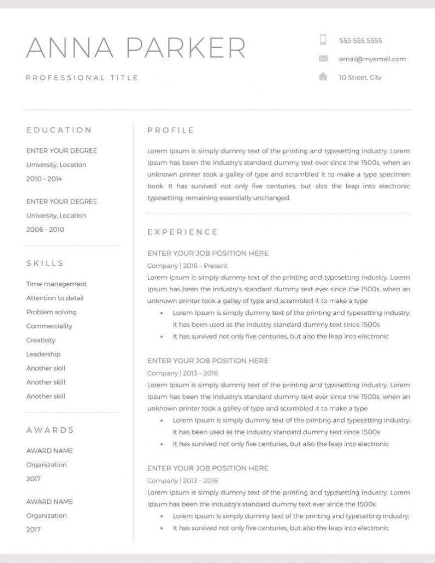 001 Astounding Resume Microsoft Word Template High Resolution  Cv/resume Design Tutorial With Federal Download868