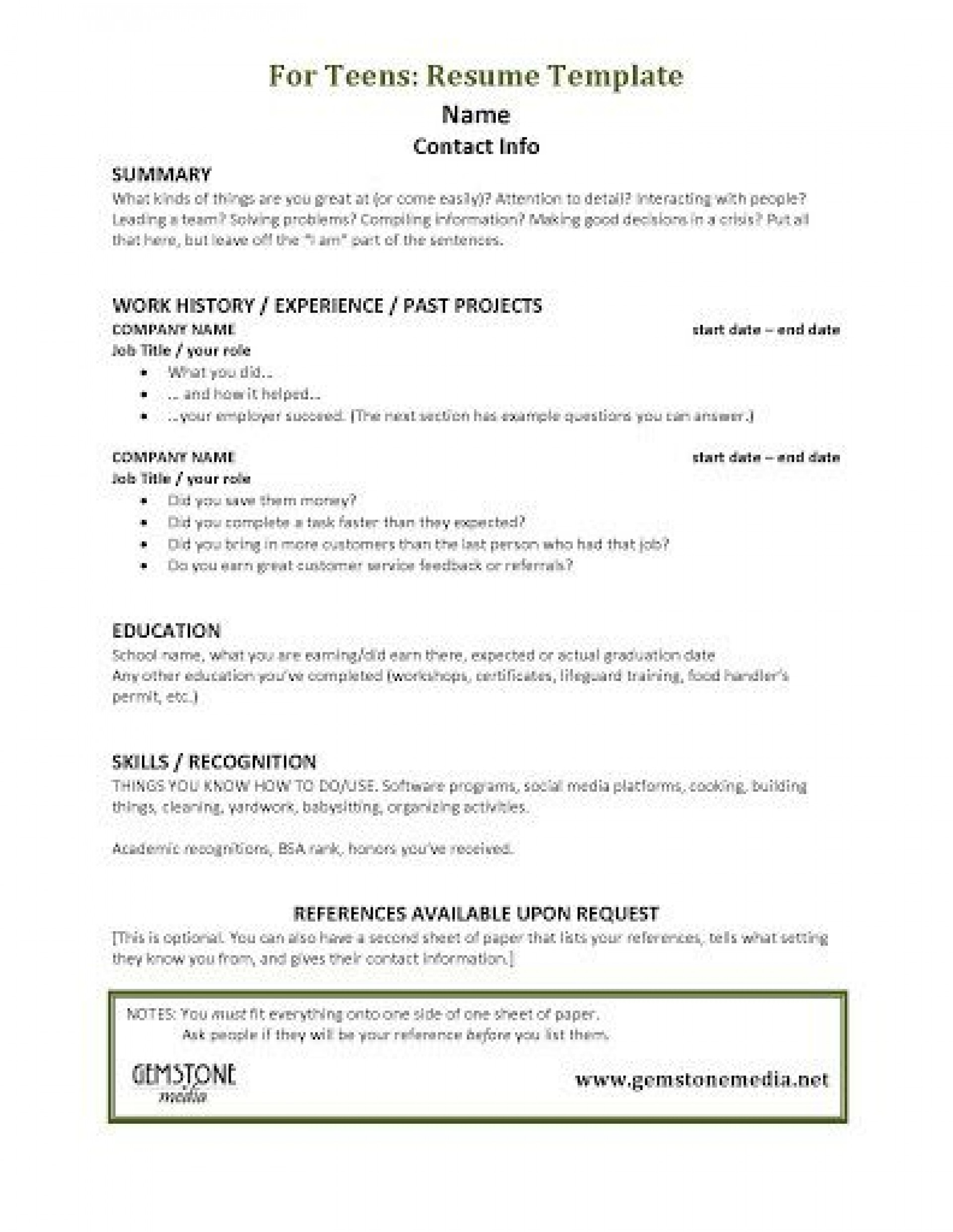 001 Astounding Resume Template For Teen Design  Teenager First Job Australia1920