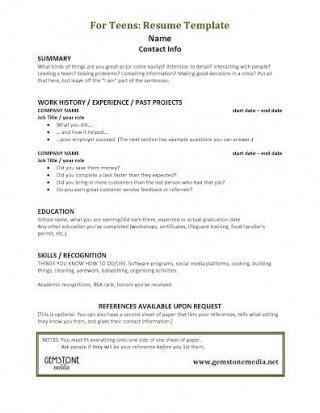 001 Astounding Resume Template For Teen Design  Teenager First Job Australia320
