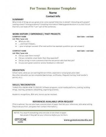 001 Astounding Resume Template For Teen Design  Teenager First Job Australia360