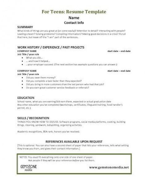 001 Astounding Resume Template For Teen Design  Teenager First Job Australia480