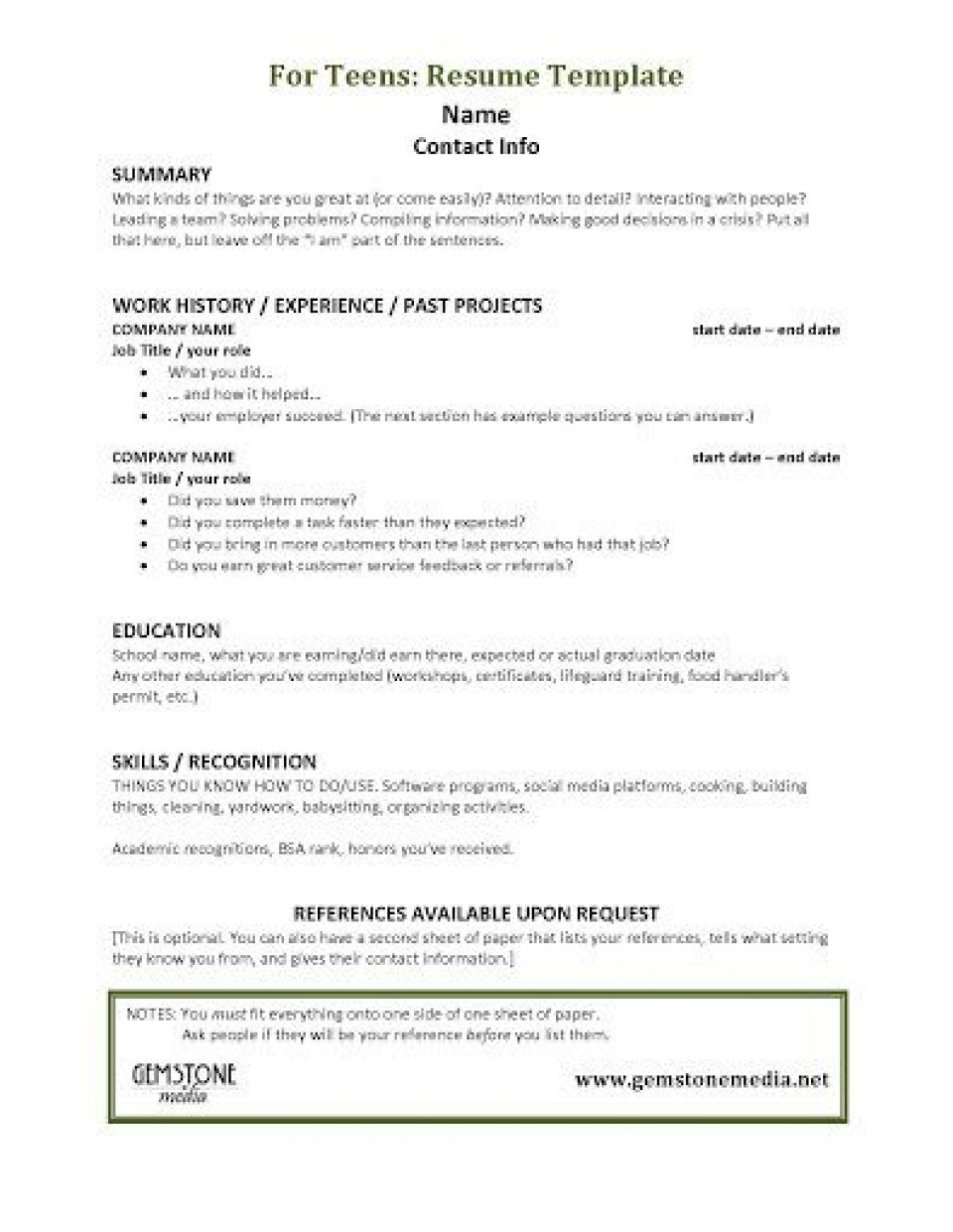 001 Astounding Resume Template For Teen Design  Teenager First Job Australia960