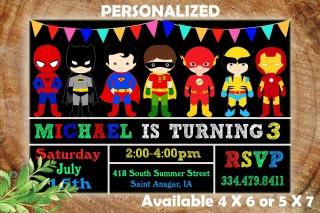 001 Astounding Superhero Birthday Invitation Template Free Design 320