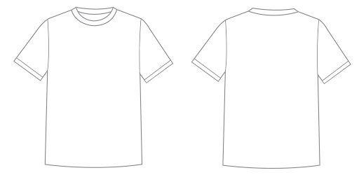 001 Astounding T Shirt Design Template Psd High Definition  Blank T-shirt EditableFull