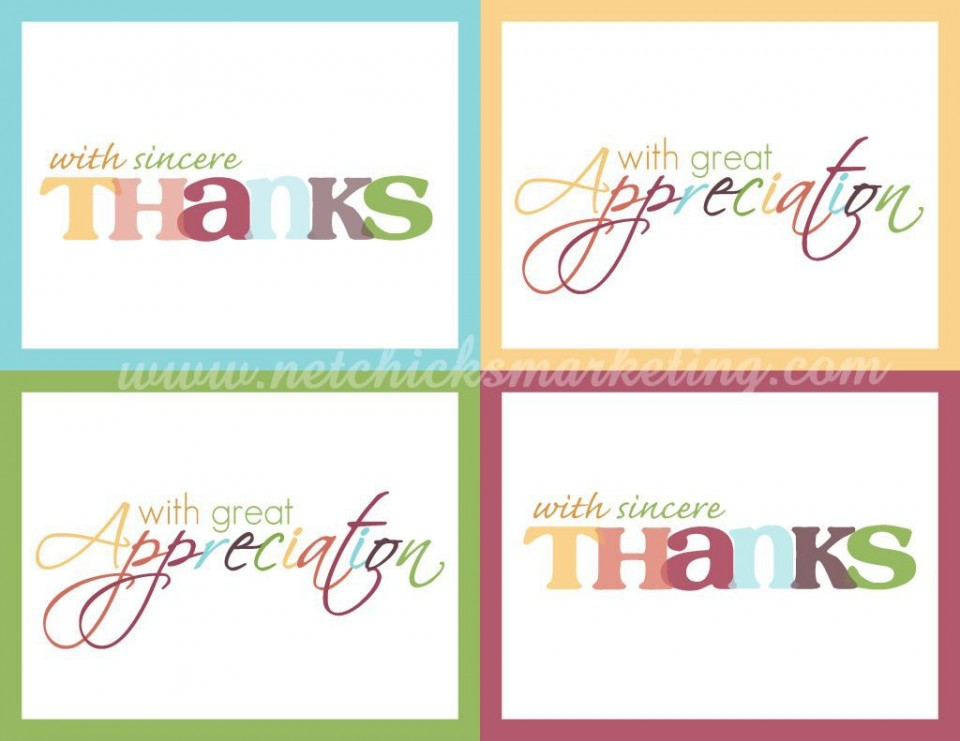 001 Astounding Thank You Note Template Free Printable Highest Quality 960