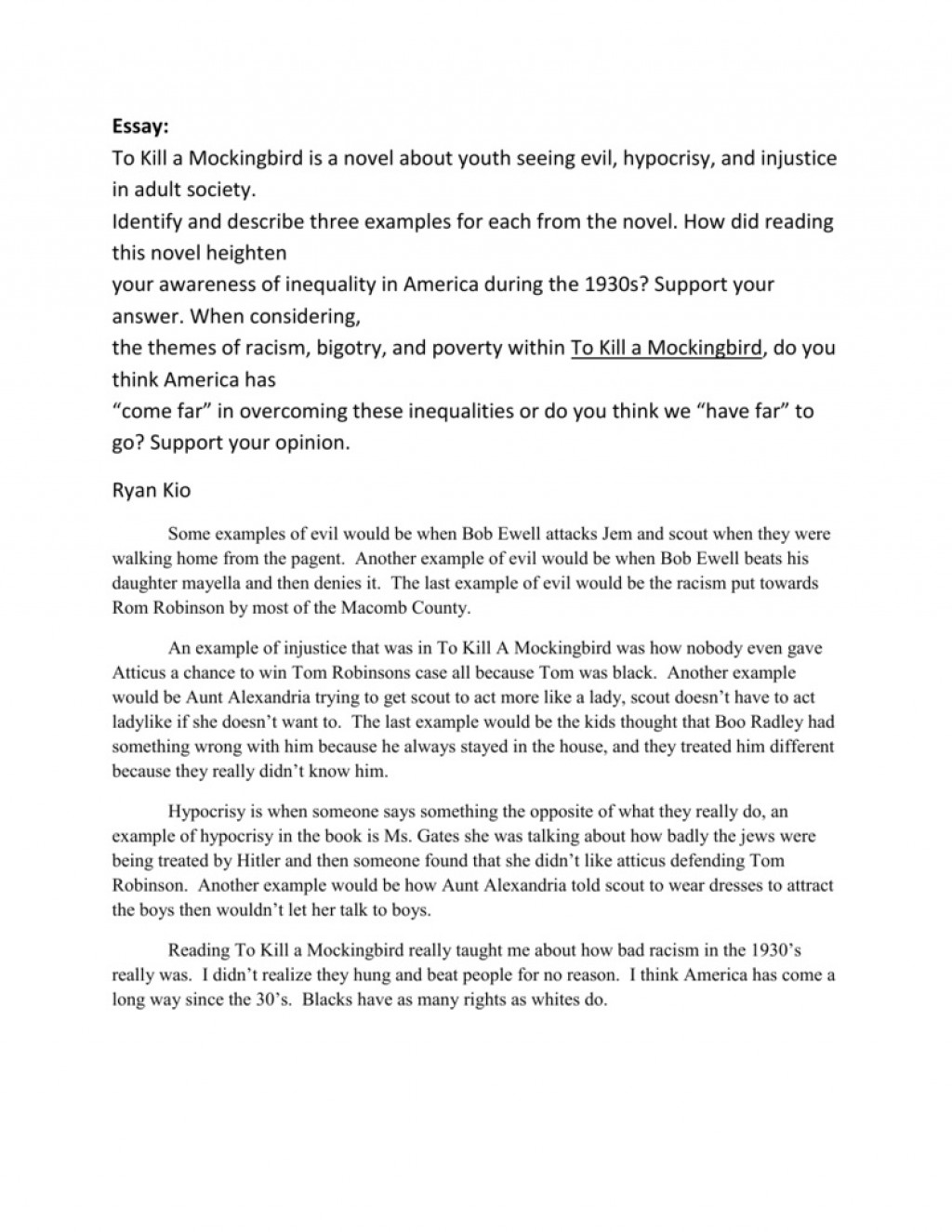 001 Astounding To Kill A Mockingbird Essay Example  Question Courage Thesi PdfLarge