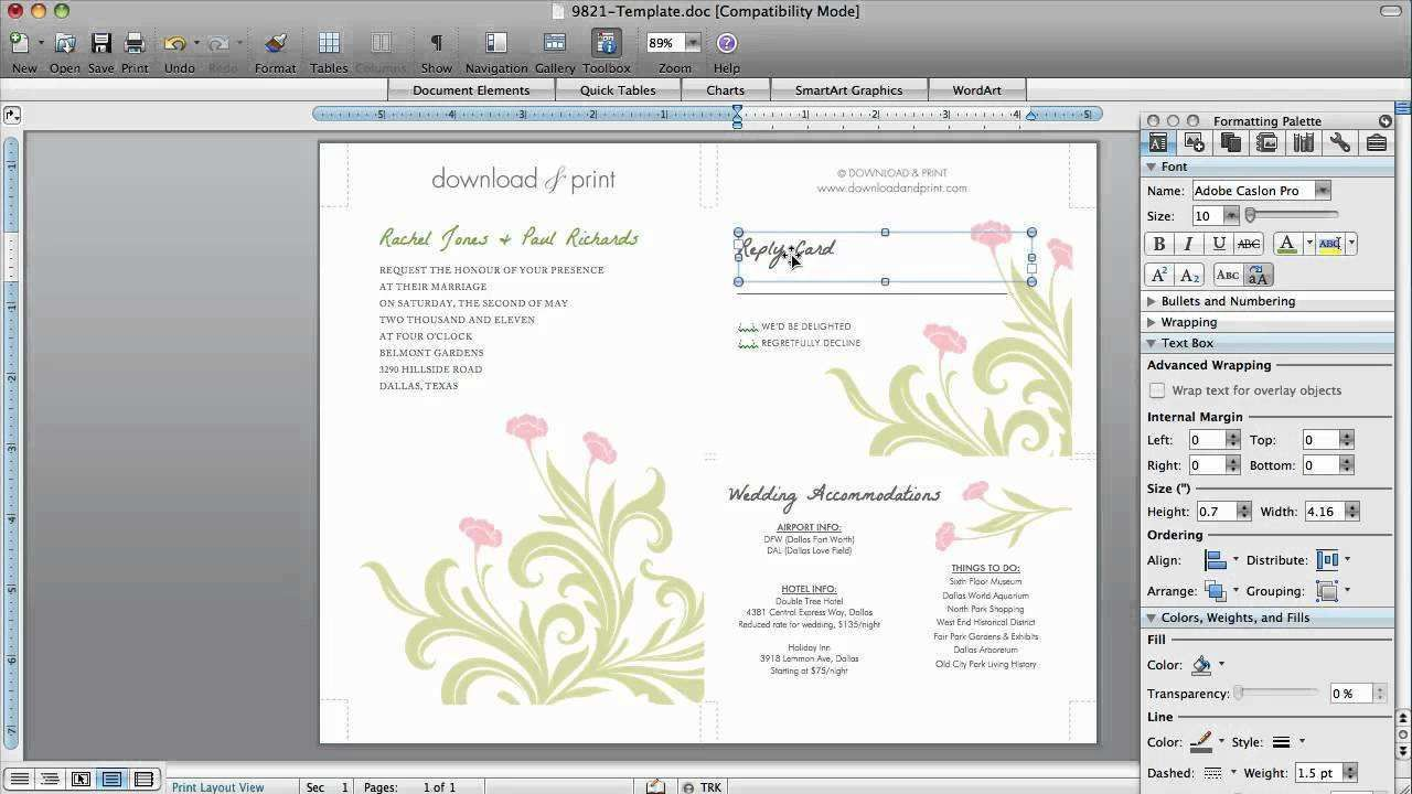001 Awesome Birthday Card Template For Word 2010 Idea  Greeting MicrosoftFull