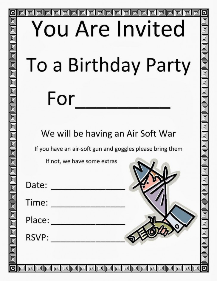 001 Awesome Blank Birthday Invitation Template For Microsoft Word Idea 728