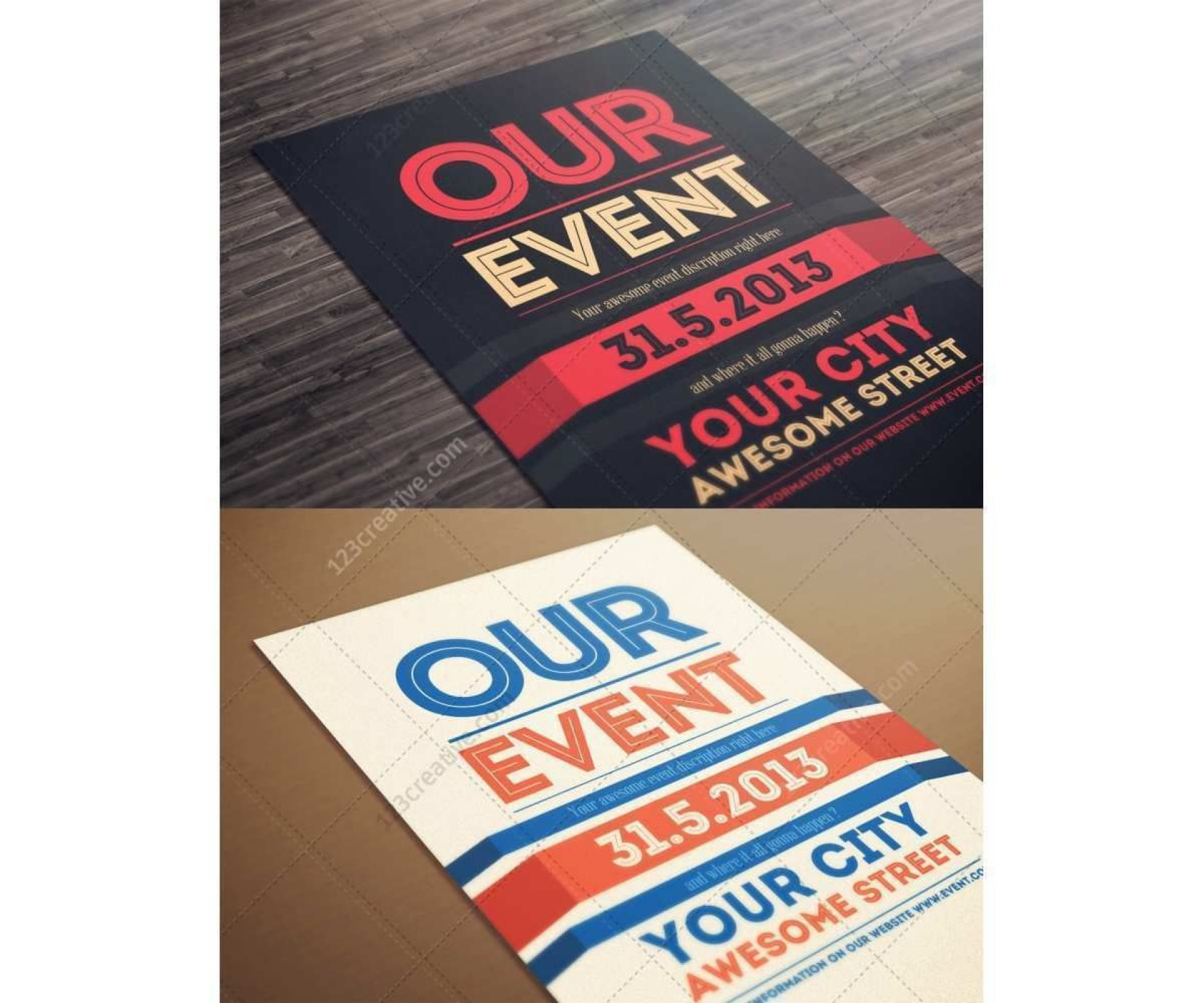 001 Awesome Event Flyer Template Free Photo  Word Download Psd1920