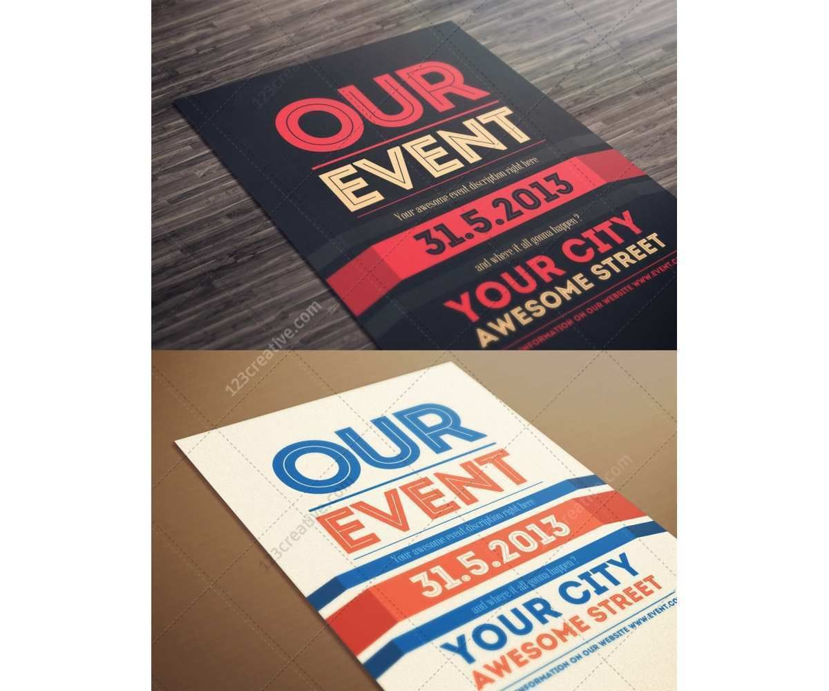 001 Awesome Event Flyer Template Free Photo  Word Download PsdFull