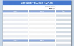 001 Awesome Excel Weekly Planner Template High Def  Meal Appointment Calendar Free