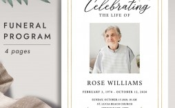 001 Awesome Free Printable Celebration Of Life Program Template High Definition