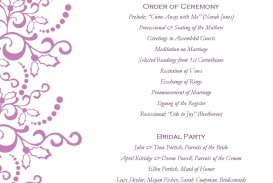 001 Awesome Free Template For Wedding Ceremony Program Inspiration