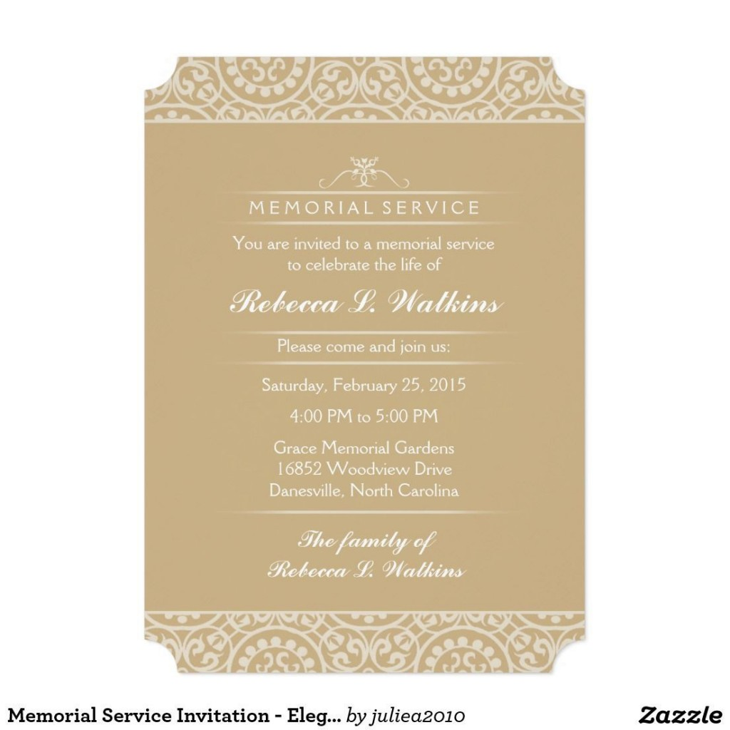 001 Awesome Funeral Invitation Template Free Design  Printable Service WordLarge