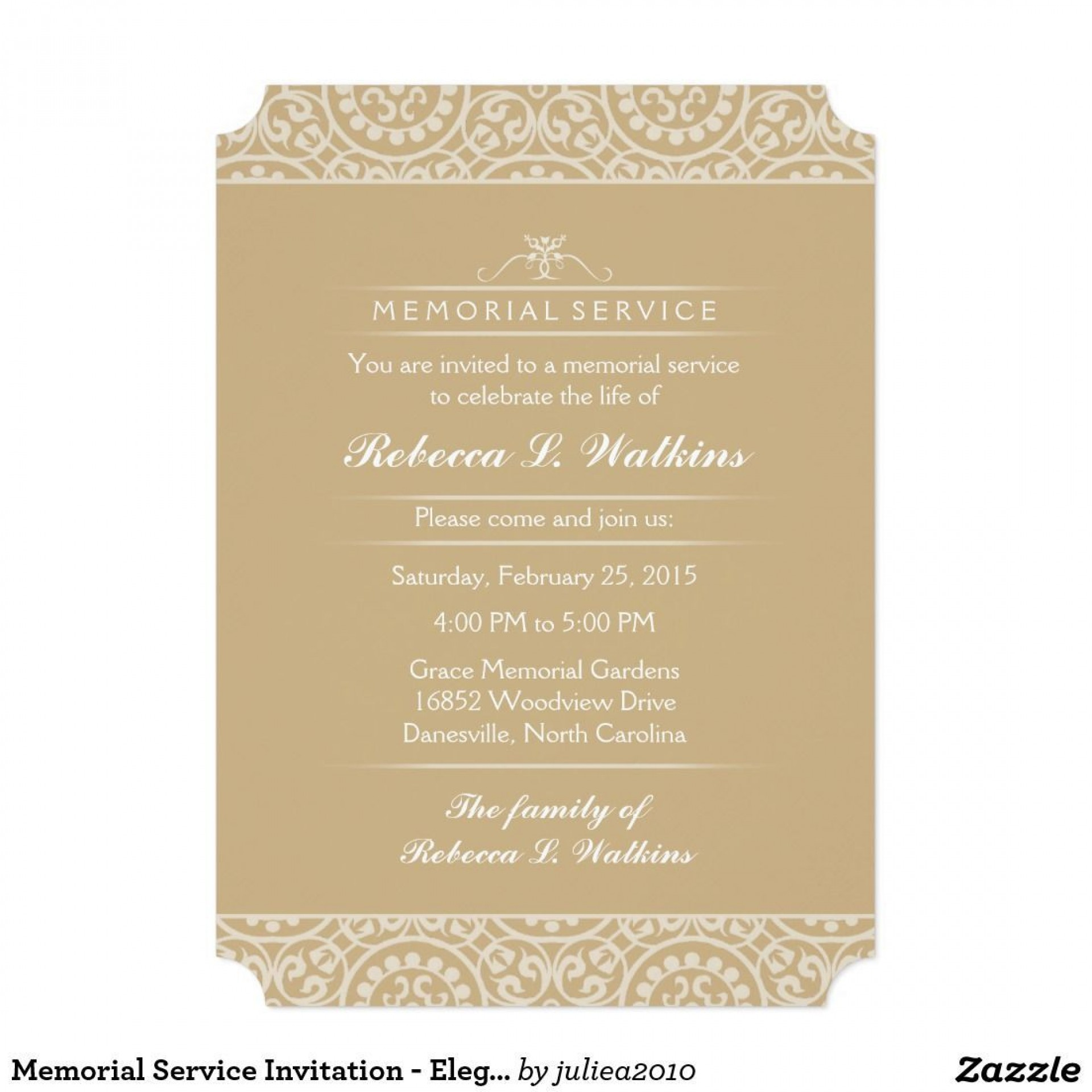 001 Awesome Funeral Invitation Template Free Design  Memorial Service Card Reception1920