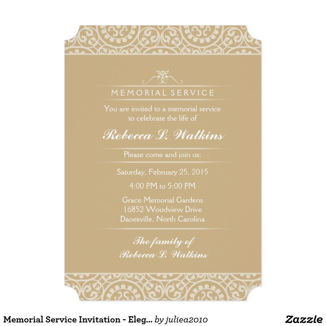 001 Awesome Funeral Invitation Template Free Design  Memorial Service Card ReceptionFull