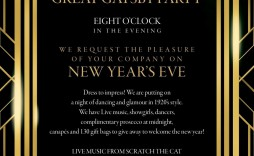 001 Awesome Great Gatsby Invitation Template High Resolution  Templates Free Download Blank