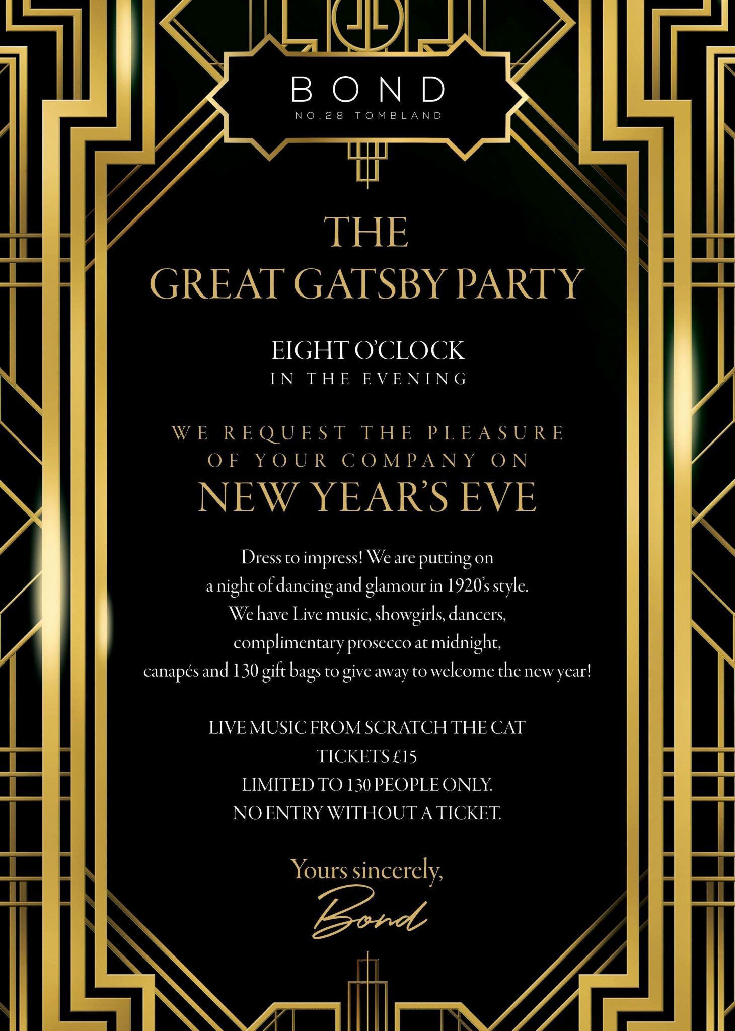 001 Awesome Great Gatsby Invitation Template High Resolution  Templates Free Download BlankFull