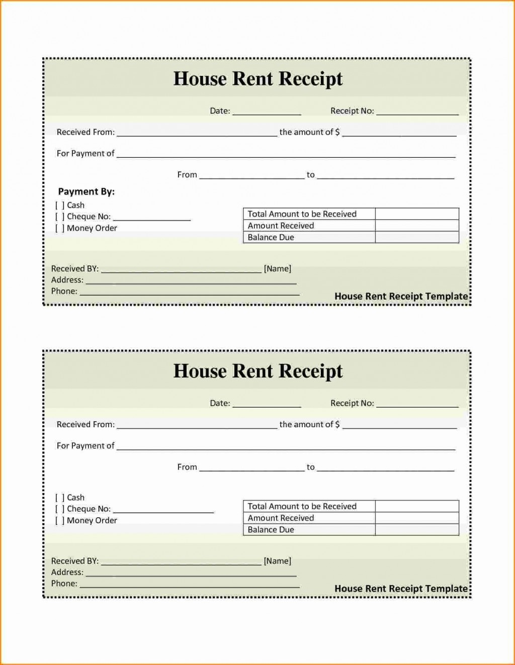 001 Awesome House Rent Receipt Sample Doc Idea  Format Download Bill Template IndiaLarge