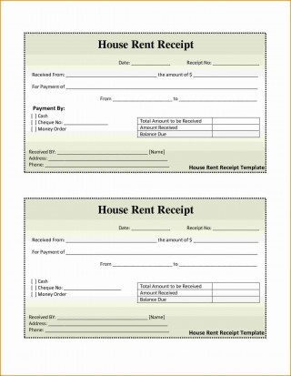 001 Awesome House Rent Receipt Sample Doc Idea  Format Download Bill Template India320